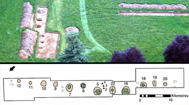 Der 10.000 Jahre alte Kalender von Warren Field in Schottland: wirklich der älteste Kalender der Welt? (Bilder: V. Gaffney / Montage: Fischinger-Online)