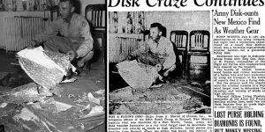 Roswell 1947: Major Jesse Marcel soll UFO-Trümmer zu Hause versteckt haben (Bilder gemeinfrei / Archiv Fischinger-Online)