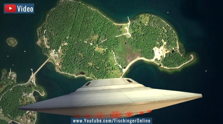 VIDEO: Das Rätsel von Oak Island und das UFO aus der Vorzeit (Bilder: Google Earth / PixaBay/gemeinfrei / Montage: Fischinger-Online)