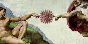 Religiöse Verschwörungstheorien: Corona (COVID-19) als Strafe Gottes für China und die ganze Welt (Bilder: gemeinfrei / Montage: Fischinger-Online)