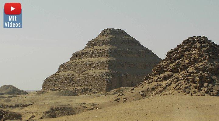 Die Stufenpyramide von Sakkara und ihre Unterwelt: Jetzt für Touristen zum Teil geöffnet (Bild: Fischinger-Online)