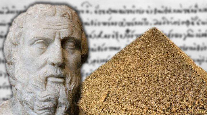 """Herodot und das Eisen der Cheops-Pyramide: Was sagte der """"Vater der Geschichtsschreibung"""" tatsächlich? (Bilder/Montage: gemeinfrei & Fischinger-Online)"""
