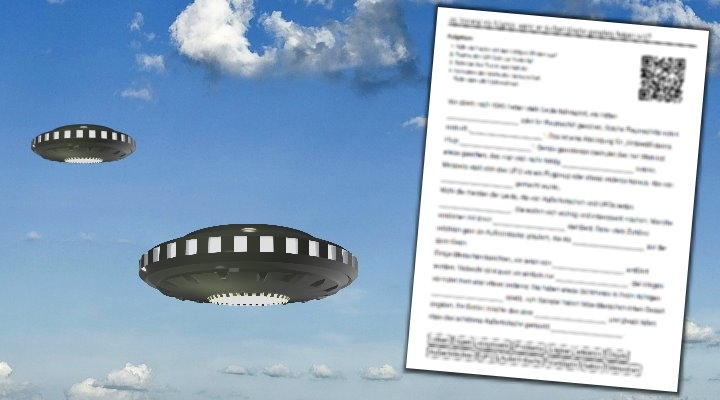 """""""Ist jemand ein Lügner, wenn er Außerirdische gesehen haben will?"""" (Bilder: PixaBay/gemeinfrei / unterricht.schule / Montage: Fischinger-Online)"""