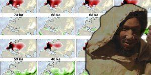 Der rätselhafte Neandertaler: Ein Supercomputer hat jetzt deren Aussterben simuliert - Hauptschuld an ihrem Verschwinden trägt wohl der Homo sapiens (Bilder: A. Timmermann & PixaBay / Montage: Fischinger-Online)