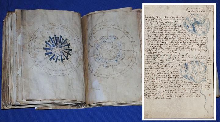 """""""Voynich-Code geknackt"""": Deutsches Museum meldet """"Durchbruch in der Entzifferung des Voynich-Manuskript"""" (Bilder: gemeinfrei / Montage: Fischinger-Online)"""