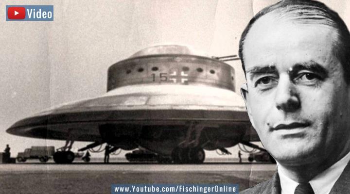 """VIDEO: Gab es Nazi-UFOs? NS-Rüstungsminister Albert Speer war sich beim Thema """"Reichsflugscheiben"""" sicher: """"Es gab keine Flugscheiben im Dritten Reich"""" (Bilder: gemeinfrei / Montage: Fischinger-Online)"""