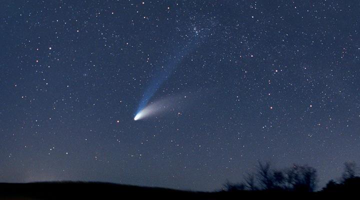 Vor exakt 25 Jahren wurde er entdeckt: der Komet Hale-Bopp - und er brachte nichts Gutes! (Bild: NASA)