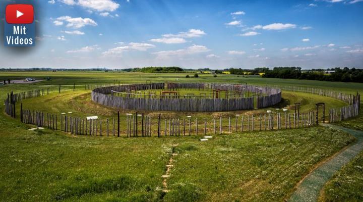 Die Kreisgrabenanlage Pömmelte: Archäologen haben hier einen bis zu 4.800 Jahre alten Vorgängerbau entdeckt (Bild: L. Petereit/himmelswege.de / Bearbeitung: Fischinger-Online)