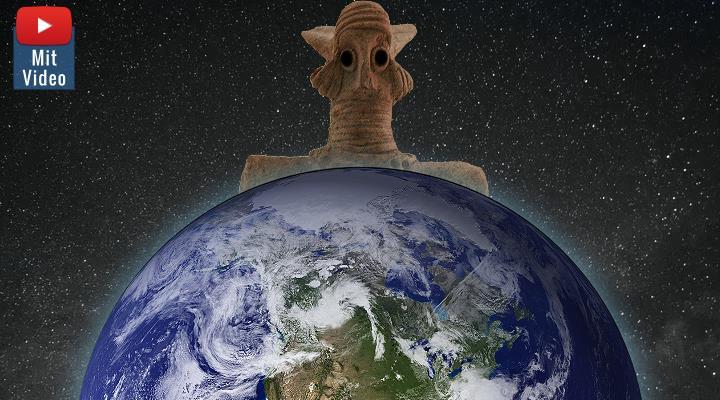 """""""Prä-Astronautik: Lenken Aliens seit Jahrtausenden die Welt?"""" - Fake-Jäger interviewen Erich von Däniken - und widerlegen Nicht-Gesagtes (Bilder: LAF & gemeinfrei / Montage: Fischinger-Online)"""