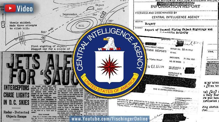"""VIDEO: Ein Blick in die """"geheimen UFO-Akten der CIA"""" - mit erstaunlichen Fällen (Bilder: gemeinfrei / Bearbeitung: Fischinger-Online)"""