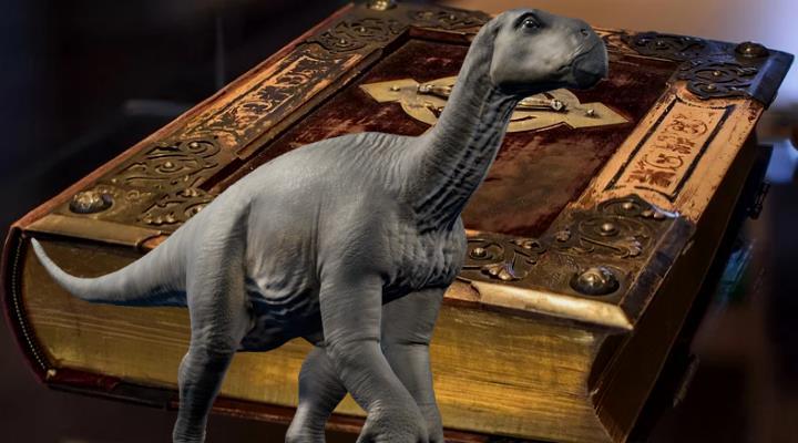 Werden in der Bibel Dinosaurier erwähnt? (Bilder: gemeinfrei / Montage: Fischinger)