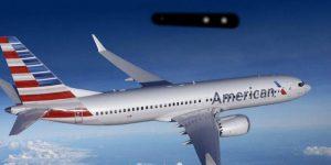 American Airlines bestätigt Piloten-Sichtung eines langen zylindrischen Objekts - das FBI ermittelt (Bild: gemeinfrei / Montage: Fischinger-Online)