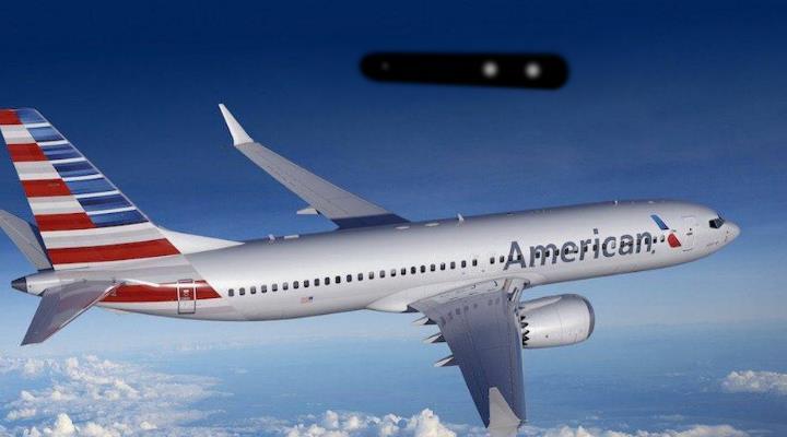 """American Airlines bestätigt Piloten-Sichtung eines """"langen, zylindrischen Objekts"""" - das FBI ermittelt (Bild: gemeinfrei / Montage: Fischinger-Online)"""
