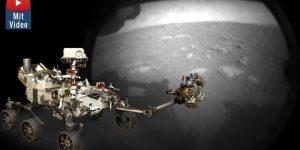 Mars 2020 der NASA auf dem Roten Planeten gelandet: Doch warum sendet der Rover Perseverance schwarz-weiß Bilder? (Bilder: NASA / Montage: Fischinger-Online)
