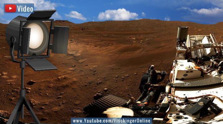 Ist die NASA wirklich auf dem Mars – oder gibt es dort sogar längst eine geheime Mars-Basis? (Bilder: Gemeinfrei & NASA/JPL / Montage: Fischinger-Online)