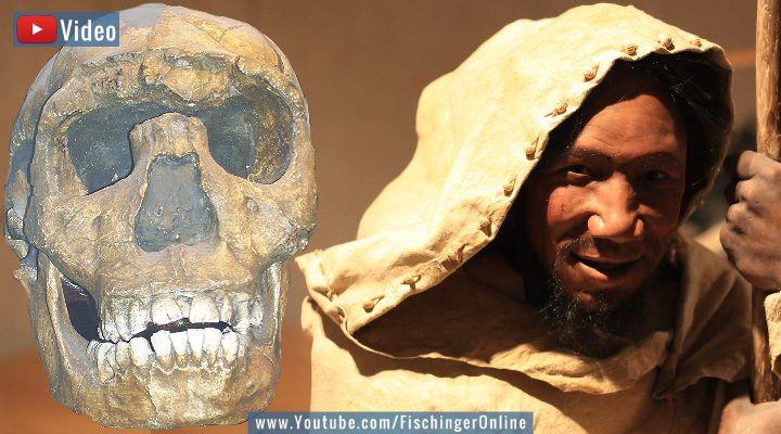 VIDEO: Neue Datierungen zum Ende der Neandertaler schreiben die Gesichtsbücher um! (Bilder: gemeinfrei & Fischinger-Online)