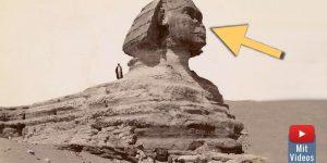 Wo ist die Nase der Sphinx wirklich geblieben? (Bild: gemeinfrei / Montage/Bearbeitung: Fischinger-Online)