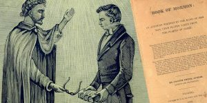 Der moderne Henoch - Joseph Smith Jr. und sein erster Kontakt mit dem außerirdischen Engel Moroni (Bilder: gemeinfrei / Montage: Fischinger-Online)