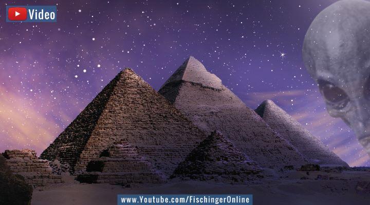 """VIDEO: Mythos über die Ancient Aliens: """"Außerirdische haben die Cheops-Pyramide gebaut"""" (Bilder: gemeinfrei / Montage: Fischinger-Online)"""
