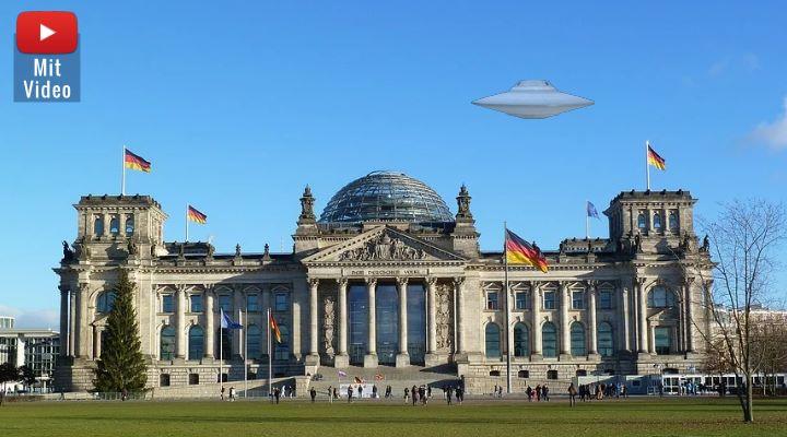 Das Weltraumkommando der Bundeswehr und die UFOs: Nachfragen in Berlin (Bilder: gemeinfrei / Montage: Fischinger-Online)