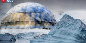 VIDEO: Geheimnisvolle Stahlkuppel im ewigen Eis des Nordpol? Eine seltsame Zeitungsmeldung! (Bilder: gemeinfrei / Montage: Fischinger-Online)