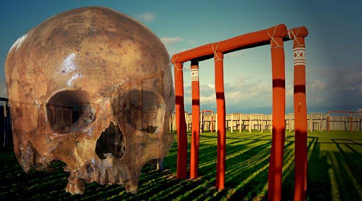 """Ringheiligtum von Pömmelte: Verweisen neue Funde auf einen Schädelkult im """"deutschen Stonehenge""""? (Bilder: PixaBay/gemeinfrei / Montage: Fischinger-Online)"""