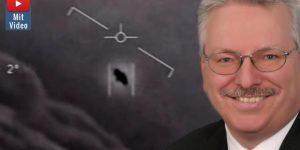 Der neue Hype um UFOs und Außerirdische: Das sagt der wissenschaftliche Direktor der ESA dazu (Bilder: ESA / US-Navy / Montage: Fischinger-Online)