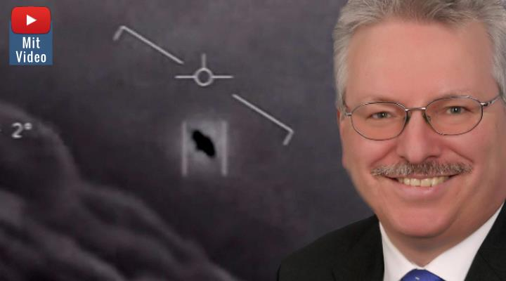 Der neue Hype um UFOs und Außerirdische: Das sagt Professor Dr. Günther Hasinger, der wissenschaftliche Direktor der ESA, dazu (Bilder: ESA / US-Navy / Montage: Fischinger-Online)