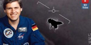 Ehemaliger deutscher Astronaut hält UFO-Videos der US-Navy für eine Fliege! (Bilder: WikiCommons/gemeinfrei / US-Navy / gemeinfrei / Montage: Fischinger-Online)