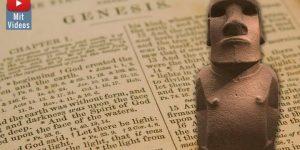 Eine biblische Schöpfungsgeschichte auf der Osterinsel? (Bilder: gemeinfrei & Fischinger-Online)