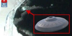 Seltsames Bild der Antarktis: Hat die hier das ewige Eis ein UFO freigelegt? (Bilder: gemeinfrei & Google Earth / Montage: Fischinger-Online)