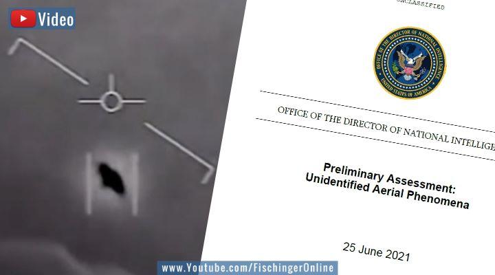 VIDEO: UFO-Report des Pentagon veröffentlicht: Das steht drin - und das nicht (Bilder: gemeinfrei/US-Navy / Montage: Fischinger-Online)