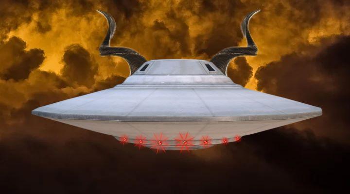 """Dämonen stecken hinter dem UFO-Phänomen - und vielleicht """"in die Wissenschaft des Dämons eingeweihte Menschen"""" (Bilder: gemeinfrei / Montage: Fischinger-Online)"""