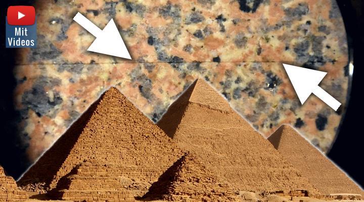 """Das """"Cheops-Projekt 3.0"""" beginnt in einer neuen Phase der Umsetzung: Wie schafften die Alten Ägypter hauchfeine Schnitte in Granit? (Bilder: D. Görlitz & Fischinger-Online / Montage: Fischinger-Online)"""