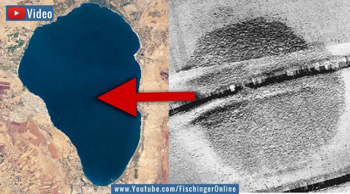 VIDEO: Vor 4000 Jahren untergegangen - Ein riesiges versunkenes Bauwerk auf dem Grund des See Genezareth in Israel!