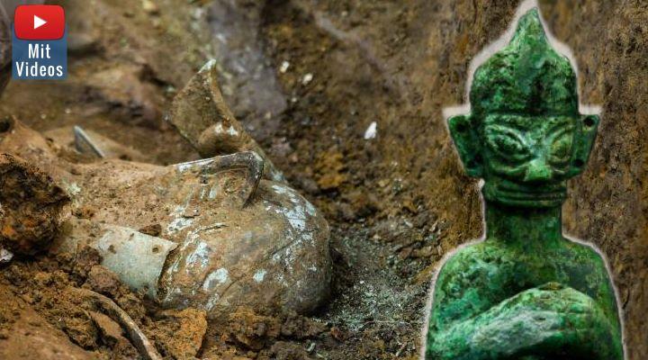 Die rätselhafte Sanxingdui-Kultur in China: Forscher geben neue Entdeckungen bekannt (Bilder: Xinhua News / Montage: Fischinger-Online)