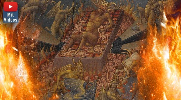 Ewige Qualen, Folter, Leid, Schmerz und Verdammnis: Wie ist es eigentlich in der Hölle laut katholischer Kirche? (Bilder: gemeinfrei / Montage: Fischinger-Online)