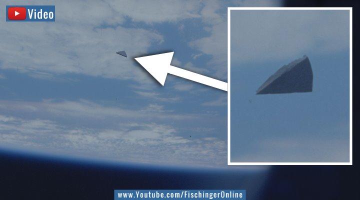 VIDEO: Hat ein Space Shuttle der NASA 1986 wirklich ein fliegendes Dreieck (UFO) im Orbit fotografiert? (BilderY: NASA / Montage: Fischinger-Online)