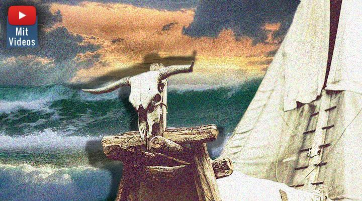 Indianische Mythologie: Eine Sintflut in Kalifornien und das Monster im Tahoe-See (Bilder: PixaBay/gemeinfrei / Montage/Bearbeitung: Fischinger-Online)