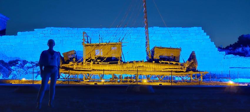 Schilffboot ABORA IV in Patara in der Türkei auch nach Jahren noch intakt (Bild: D. Görlitz / Abora.eu)