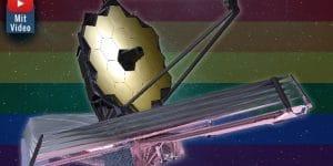 """Das """"James Webb Weltraumteleskop"""": Diskriminierte der Namensgeber Homosexuelle? Die NASA will das Teleskop nicht umbenennen (Bilder: gemeinfrei & NASA / Montage: Fischinger-Online)"""