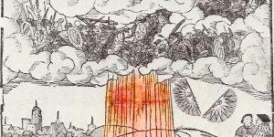 """Schlachten am Himmel im Mittelalter - und zehntausende Tote Soldaten durch """"Pfeile und Blitze"""" vom Himmel (Bild: gemeinfrei / Bearbeitung: Fischinger-Online)"""